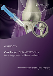Dr. Bergh CERAMENT V in a two-stage infected knee revision