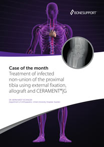 Treatment of infected non-union of the proximal tibia using external fixation, allograft and CERAMENT G