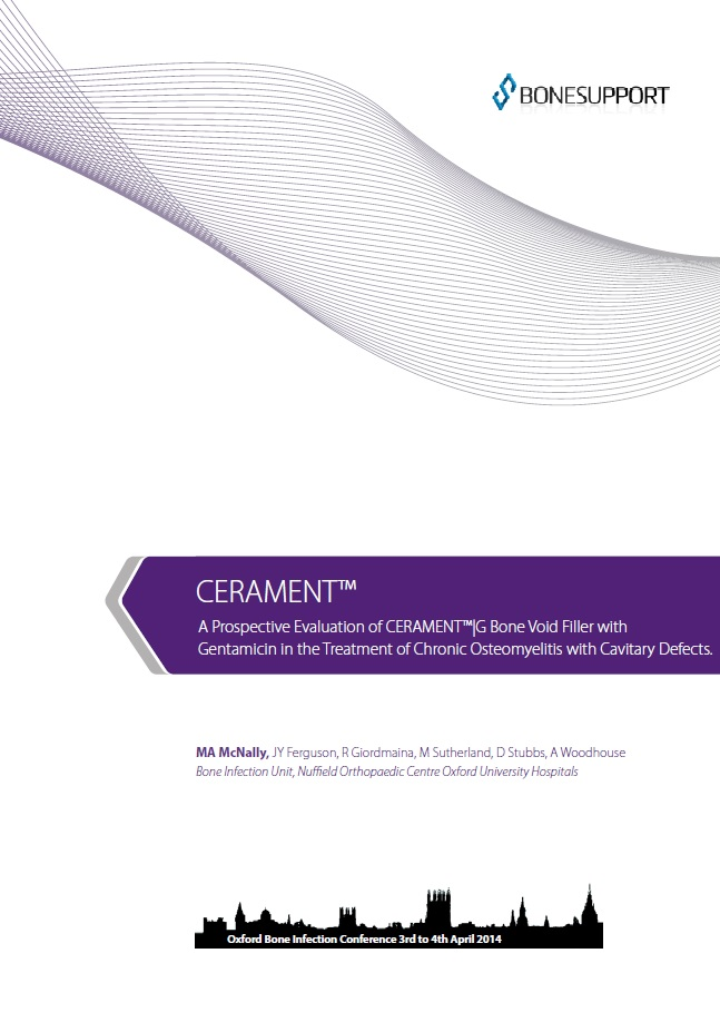 A prospective evaluation of CERAMENT®|G bone void filler with gentamicin in the treatment of chronic osteomyelitis with cavitary defects
