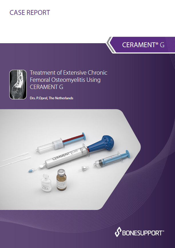 Treatment of extensive chronic femoral osteomyelitis using CERAMENT G: 12-month follow up